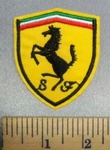 3404 C -Ferrari Car Logo - Embroidery Patch