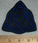 2716 L - Triquetra - Holy Trinity - Blue - Embroidery Patch