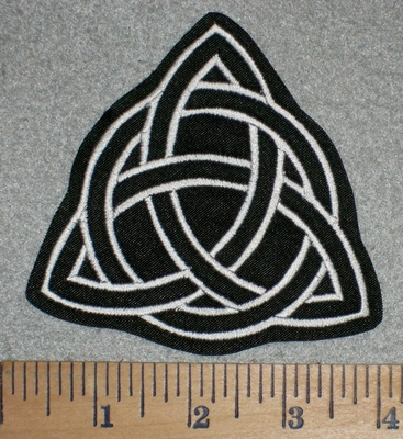2761 L - Triquetra - Holy Trinity - White - Embroidery Patch