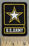2887 R - U.S.A. With Army Star - Embroidery Patch
