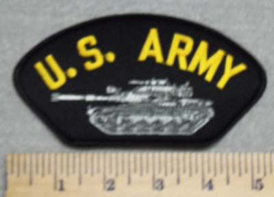 3016 W - U.S. Army - With Army Tank - Embroidery Patch