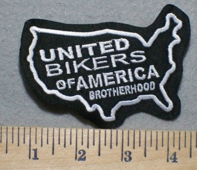 2502 L - United Bikers Of America Brotherhood - Embroidery Patch