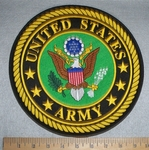 2821 W - discontinued  United States Army Round Back Patch With Logo - Embroidery Patch