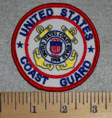 2785 W - United States Coast Guard - Round - Embroidery Patch