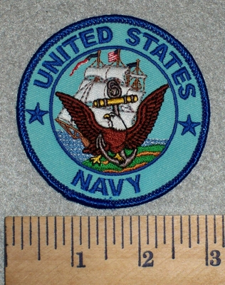 2604 W- United States Navy - Round - Embroidery Patch