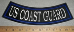 2881 L - US Coastal Guard - Blue Border - Bottom Rocker - Embroidery PAtch