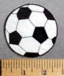 625 C -  Soccer Ball - Embroidery Patch