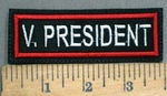 677 L - V. PRESIDENT PATCH - Embroidery Patch