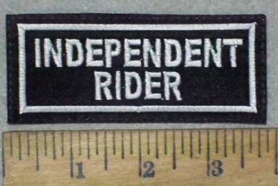 678 L - Independent Rider  - Embroidery Patch