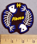 676 CP - Skull Zodiac - Pisces - Embroidery Patch