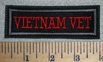 2750 L - Veitnam Vet - Red - Embroidery Patch