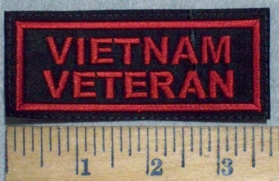 3540 L - Veitnam Veteran - Red - Embroidery Patch