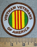 3187 W - Veitnam Veterans Of America - Round - Embroidery Patch