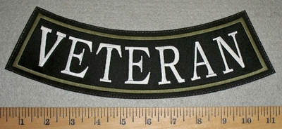2846 L - Veteran - Army Green - Bottom Rocker - Embroidery Patch