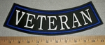 2882 L - Veteran - Blue - Bottom Rocker - Embroidery Patch