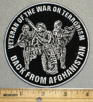 2256 G - Veteran Of War On Terrorism - Back From Afghanistan - Round - Embroidery Patch