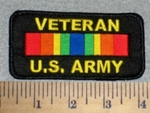 2625 W - Veteran U.S.Army With Rank Stripe - Embroidery Patch