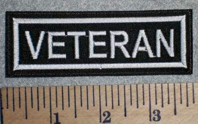 2671 L - Veteran - White - Embroidery Patch