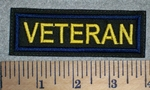 2668 L - Veteran - Yellow Lettering - Blue Border - Embroidery Patch