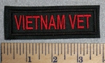 2737 L - Vietnam Vet - Red - Embroidery Patch