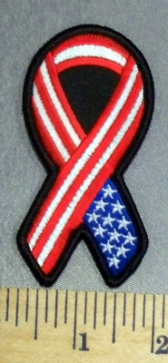 400 S - American Flag Ribbon - Embroidery Patch