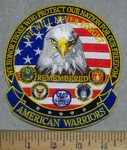 3557 G - We Honor Those Who Protect Our Nation For Our Freedom -  With American Eagle - All Armed Forces Logo - Embroidery Patch
