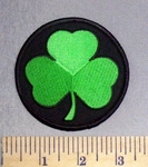 402 S - 3 Leaf Clover - Round - Embroidery Patch