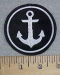 3231 L  - White Anchor - Embroidery Patch