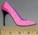 3278 C - Pink Stiletto - Embroidery Patch