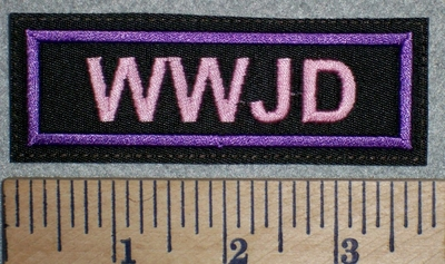 2748 L -WWJD - Pink - Embroidery Patch