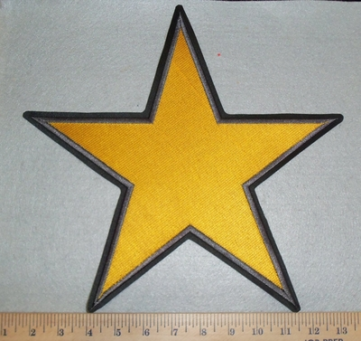 3131 L -  Large Yellow Star - Back Patch - Embroidery Patch