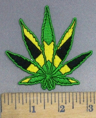 3508 N - Jamaica Marijuana/Pot Leaf  - Embroidery Patch