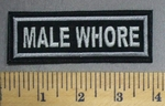 788 L - Male Whore - Embroidery Patch