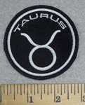 3228 L - Zodiac Sign - Taurus - Round - Embroidery Patch