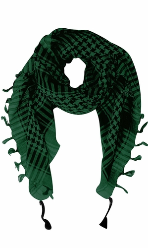 100% Cotton Unisex Tactical Military Shemagh Keffiyeh Scarf Wrap Green