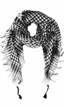 100% Cotton Unisex Tactical Military Shemagh Keffiyeh Scarf Wrap White