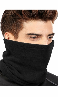 4 In 1 Unisex Versatile Double layered Fleece Balaclavas Ski Mask Black
