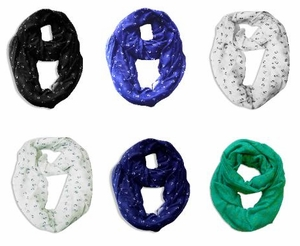 6 Pack of Anchor Loop Scarves