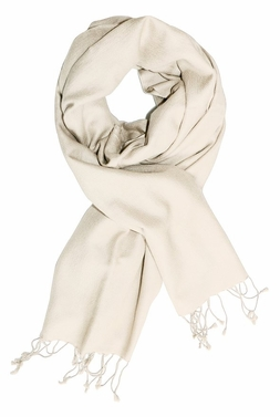 Soft Elegant Cashmere & Silk Pashmina Shawl (Off White)