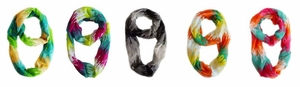 Abstract Paint Drip Loop Scarves Pack of 6