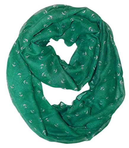 All Season's Nautical Anchors Infinity Loop Scarf  (Teal)