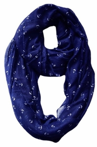 All Season's Nautical Anchors Infinity Loop Scarf (Navy)