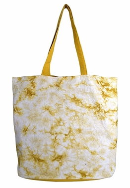 Beautiful Pattern Cotton Canvas Tote Bag Handbags Shoulder Bags Boho Tie Dye Sunshine