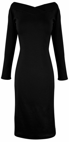 Bodycon Bodice Slim Fit Evening Dress (Black)
