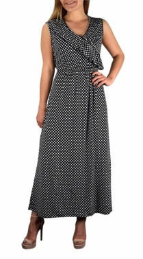 Bon Voyage Vintage Maxi Dress in Black