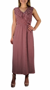 Bon Voyage Vintage Maxi Dress in Red