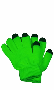 Bright Neon Texting Winter Gloves For iPhone iPad Android Any Touch Screen Neon Green