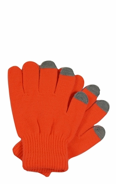Bright Neon Texting Winter Gloves For iPhone iPad Android Any Touch Screen Neon Orange