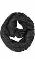 Cable Knit Chuny Winter Warm Infinity Loop Scarves Black 87