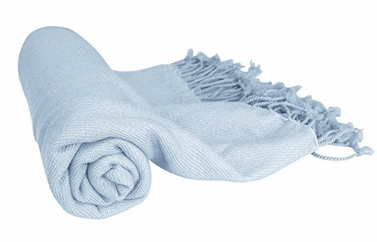 Fabulous 100% Cashmere Soft Elegant and Warm Throw Blanket (Baby Blue)